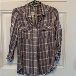 Tops - Brand new with tags - super cute plaid top